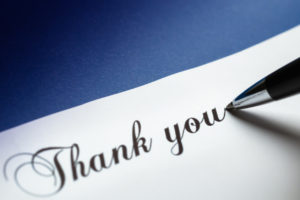 Sympathy thank you note